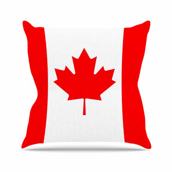 "Bruce Stanfield ""Flag of Canada"" Red White Throw Pillow"