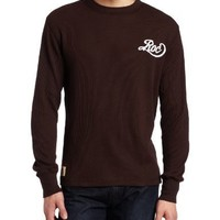 Rocawear Men's Long Sleeve Synth Thermal T-Shirt, Chocolate, XXX-Large