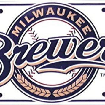 Milwaukee Brewers MLB Baseball License Plates Tags Tag auto vehicle car front