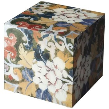 Painted Glass Bunching Cube Table