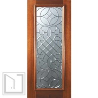 Slab House Single Door 80 Wood Mahogany Savoy Full Lite Glass