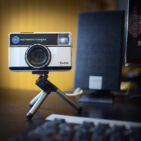 USB WEBCAM recycled Kodak Instamatic vintage camera.