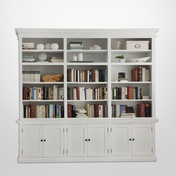 Halifax Triple - Bay Hutch Unit White Semi-gloss Paint