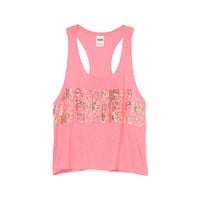 Bling High-Low Tank - PINK - Victoria's Secret