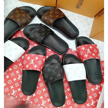 Louis Vuitton LV Coloured printing comfort slippers