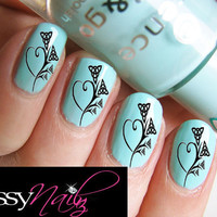 Celtic Flower Nail Art transfer