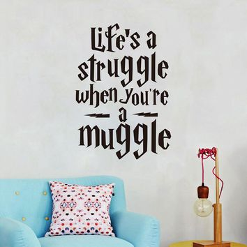 "Harry Potter ""Life is a struggle..."" Wall Stickers Vinyl Decals For Wall Decoration"