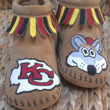 Custom Kansas City Chiefs Moccasins
