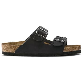 Birkenstock Arizona Soft Footbed Oiled Leather Black 0752481/0752483 Sandals - Ready S