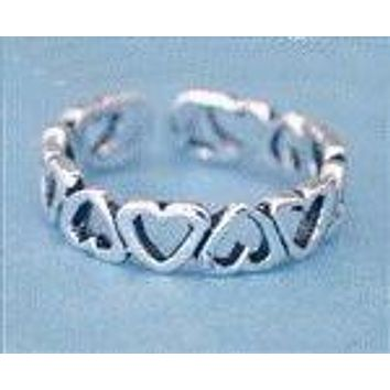 Heart Sterling Silver Toe Ring