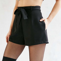 Silence + Noise Tie Waist Short - Urban Outfitters