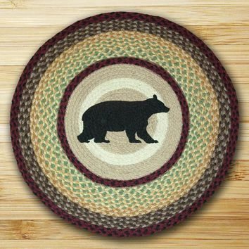 Cabin Bear Round Patch Rug