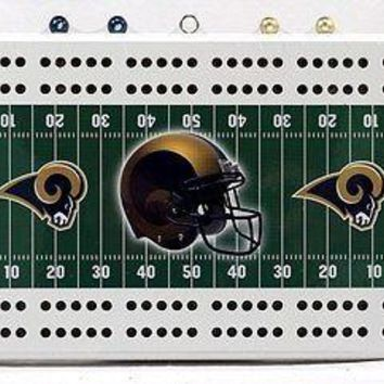 St Louis Rams NFL 2 Track Cribbage Board