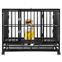 """Heavy Duty Dog Cage 36"""" 42"""" 48"""" Dog Cage Pet Cat Bird Crate Cage Kennel HH"""