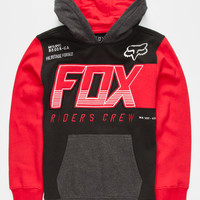 Fox Clutch Boys Hoodie Red Combo  In Sizes