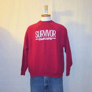 Vintage 1983 WINTER SURVIVOR GRAPHIC Enumclaw Washington Soft Comfortable Unisex Medium 50/50 Sweatshirt