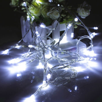 1M 10 Led String Christmas Lights Fairy Outdoor Garden  Wedding Party Led Strings Battery Colorful