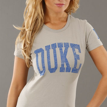 Retro Sport Duke Blue Devils Washed Crew Tee