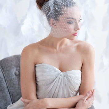 Mini double layer birdcage veil - ready to ship