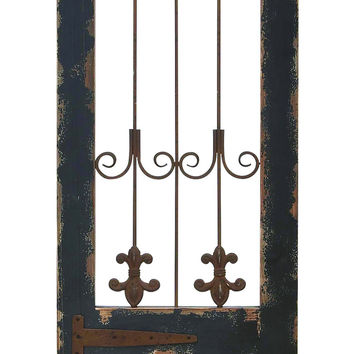 "Wood Metal Wall Decor 57""H, 16""W Wall Decor"