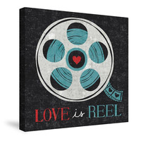 Vintage Desktop Film Reel Canvas Wall Art