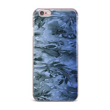 "Ebi Emporium ""Forever Flowers, Blue Ombre"" Blue Gray Watercolor iPhone Case"