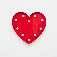 Heart Lamp in Red - Urban Outfitters