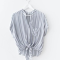 Nautical Front Knot Top