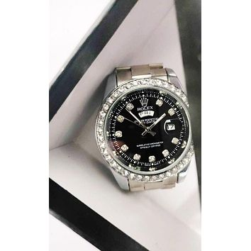 Rolex trend men and women models wild fashion quartz watch