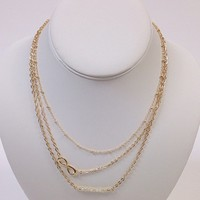 NWOT gold infinity layer necklace
