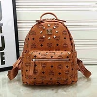 MCM women Bag Shoulder School Bag Backpack