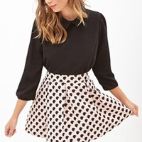 Forever 21 Dotted A Line Skirt