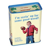 Savin Up For Some Good Weed Tin Bank - Whimsical & Unique Gift Ideas for the Coolest Gift Givers