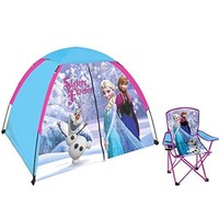 Disney Kids' Frozen Anna Elsa and Olaf Indoor / Outdoor Camping Play Tent, Sleeps 4