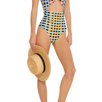 Cutout Printed Swimsuit | Moda Operandi
