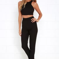 Well-Suited Black Two-Piece Set