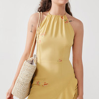 Flynn Skye Monica Halter Mini Dress | Urban Outfitters