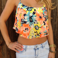 Caribbean Sunset Crop Top
