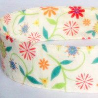 Wildflowers Headband Adult Adjustable by NewEnglandQuilter