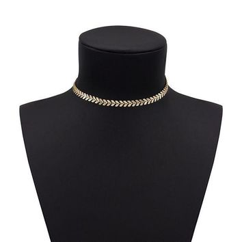 CREYV2S Boosic Coin and Chevron Chain Necklace for Women, Golden