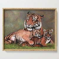 Family of tigers Serving Tray by savousepate