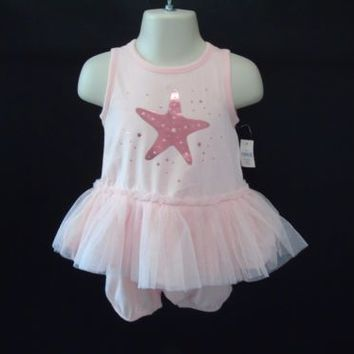 Tulle Al Tutu Romper Baby Gap Girls 6 to 12 Months Pink Star Dancer Outfit New