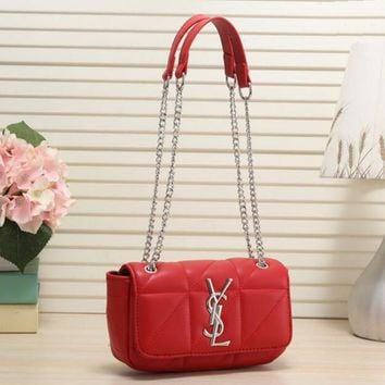 YSL Women Fashion Leather Chain Shoulder Bag Crossbody