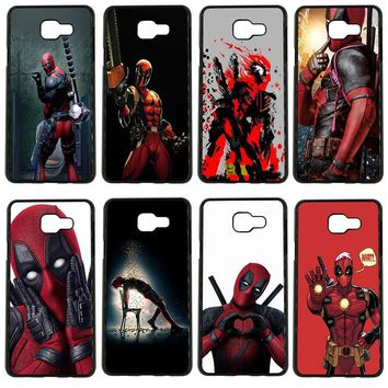 Cute Deadpool Hero Art Cell Phone Cases PC Hard Plastic Cover for Samsung Galaxy S8 S9 Plus S3 S4 S5 Mini S7 S6 Edge Plus Case