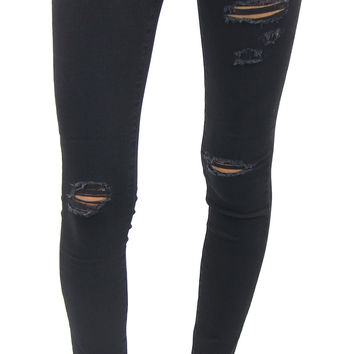 AG jeans | the legging ankle with destroy (black)