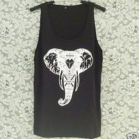 Aztec elephant tank top Men singlet Women sleeveless shirt Teen tshirt S M L XL