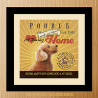 Poodle Dog Art Poster - A01-053-10X10