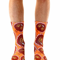 Turkey Pattern Crew Socks