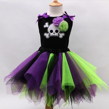 Halloween Cosplay Baby pumpkin vest Dress Children Set Infant Girl sleeveless Clothes festival Party Performance Clothing