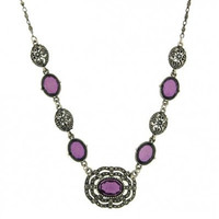 1928 Morado Jewels Simulated Marcasite Necklace